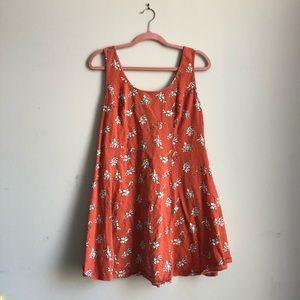 Orange and White Floral Mini Dress